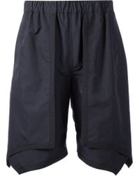 Yoshio Kubo Black Layered Shorts for men