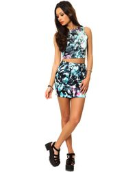This Is A Love Song - Blue The Kitty Mini Skirt - Lyst