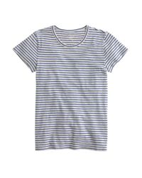 J.Crew | Blue Short-sleeve Painter T-shirt In Stripe | Lyst