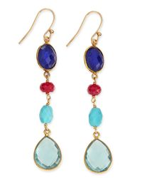 Dina Mackney | Multicolor Semiprecious Drop Earrings | Lyst