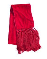 H&M Red Velvet Scarf