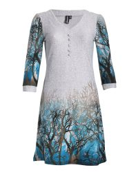 Izabel London | Multicolor A-Line Knit Dress in Winter Tree Print | Lyst