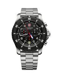 Victorinox Metallic 241679 Men's Swiss Army Maverick Sport Chronograph Stainless Steel Bracelet Strap Watch for men
