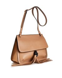 Gucci Brown Bamboo Leather Cross-Body Bag