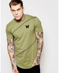Good For Nothing | Green T-shirt With Diagonal Stripe for Men | Lyst