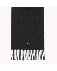 Tommy Hilfiger Black Wool Scarf Gift Pack for men