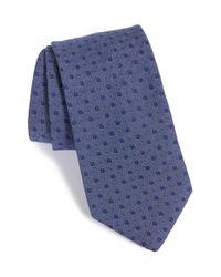 John Varvatos - Blue Geometric Tie for Men - Lyst