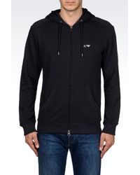 Armani Jeans | Black Hoodie for Men | Lyst