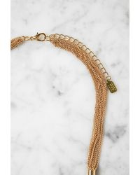 Forever 21 | Metallic Lucky Star Cuffed Tassel Necklace | Lyst