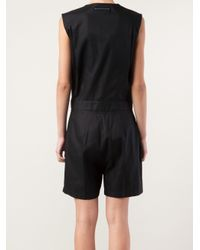 MM6 by Maison Martin Margiela Black Sleeveless Romper