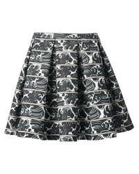 Elizabeth and James Black Morrison Printed Skirt