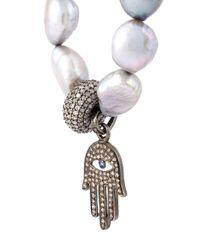 Loree Rodkin - Metallic Embellished Fatima Hand Bracelet - Lyst