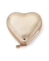 Aspinal Metallic Heart Coin Purse