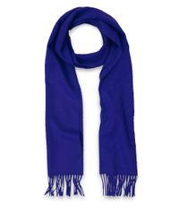 Johnstons - Blue Plain Cashmere Scarf for Men - Lyst