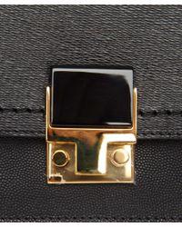Lanvin Black Partition Clutch Bag