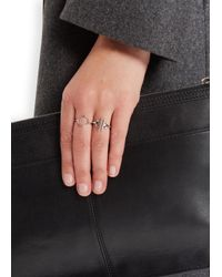 Maria Black | Metallic Monocle Silver Ring | Lyst