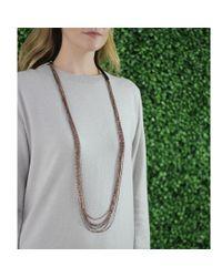 Brunello Cucinelli | Metallic Multi-strand Copper Necklace | Lyst