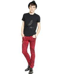 John Richmond Black Andy Warhol Embellished Cotton T-Shirt for men