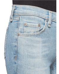 Rag & Bone Blue Skinny Convoy Stitch Detail Ripped Jeans