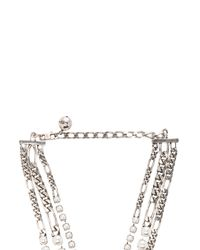 Lanvin | Metallic Triple Wrap Necklace | Lyst