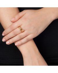 Sarah Chloe | Yellow Stackable Shea Initial Ring | Lyst