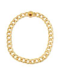 Kenneth Cole - Metallic Goldtone Link Necklace - Lyst
