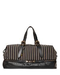 John Varvatos | Natural Striped Ramie & Cotton Canvas Duffle Bag for Men | Lyst