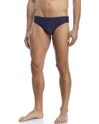 Moschino | Blue Logo Print Swim Briefs for Men | Lyst