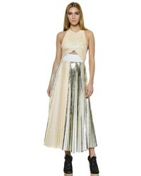 Proenza Schouler - Multicolor Pleated Crepe Cloqué Dress - Lyst