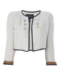 Isabel Marant | Beige Cropped Military Jacket | Lyst