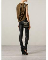 Alexander McQueen Black Mini 'Heroine' Studded Satchel