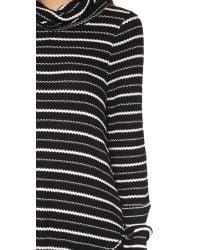 Free People - Black Drippy Striped Jersey Top - Lyst