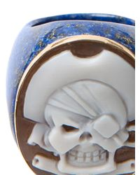 Amedeo | Blue Pirate Skull Cameo Ring | Lyst