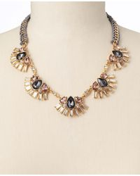 Ann Taylor - Metallic Knotted Rope Crystal Teardrop Necklace - Lyst