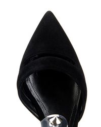 Nicholas Kirkwood - Black Faux-Pearl And Stud Point-Toe Suede Flats - Lyst