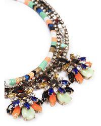 J.Crew - Multicolor Stone Burst Necklace - Lyst