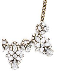 BaubleBar - White Swiss Edelweiss Collar - Lyst
