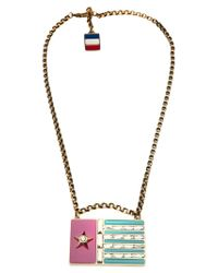 Lanvin | Multicolor 'calvi' Flag Necklace | Lyst