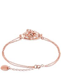 Alex Monroe Pink Rose Gold-plated Oval Wild Strawberry Cluster Cameo Bracelet