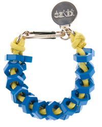 KENZO - Yellow Metal Bolt Bracelet - Lyst