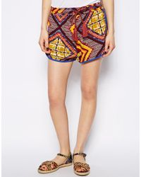 MINKPINK | Multicolor Moroccan Tile Shorts | Lyst