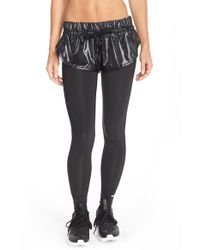 Adidas By Stella McCartney - Black 'ess' Leggings With Shorts - Lyst
