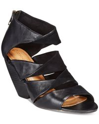 Corso Como | Black Carrington Wedge Sandals | Lyst