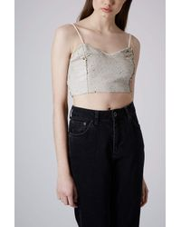 TOPSHOP Metallic Limited Edition Gold Sequin Bralet