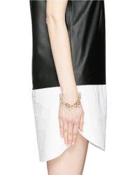 Joomi Lim | Metallic 'vertigo' Geometric Metal Fretwork Hinged Bracelet | Lyst