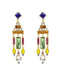 Ben-Amun | Multicolor Multi-color Deco Chandelier Earrings | Lyst