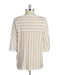 Calvin Klein | Natural Striped Linen Shirt | Lyst