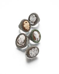 Amedeo - Gray Hand-Carved Elephant Cameo Ring - Lyst