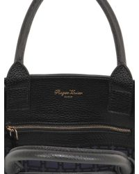 Roger Vivier Black Small Pilgrim De Jour Leather Bag