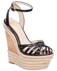 Jessica Simpson - Natural Aimms Two-piece Wedge Sandals - Lyst